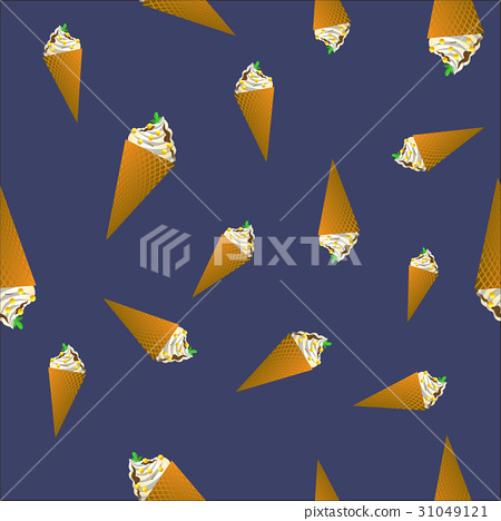 Ice Cream Seamless Pattern 31049121