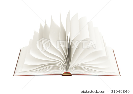 Opened blank book, template. 3D rendering 31049840