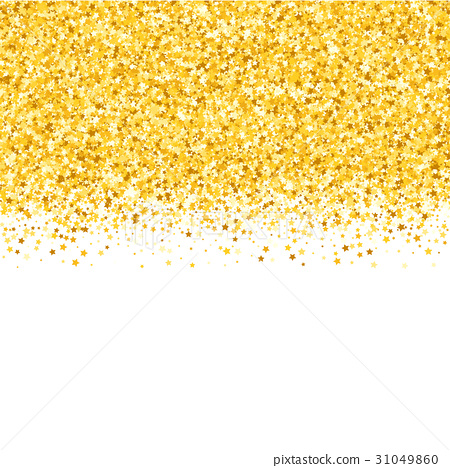 Border with shimmer stars. Gold sparkle. Golden frame of stars ...