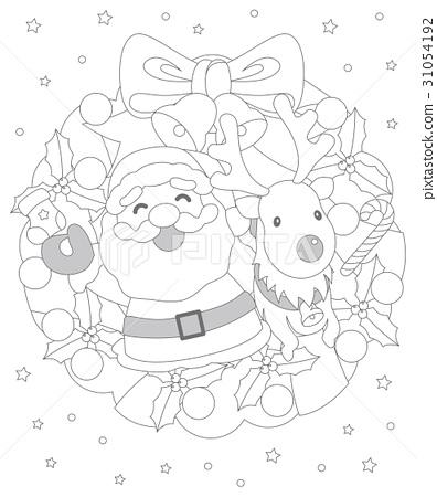 크리스마스 색칠 공부 스톡일러스트 31054192 Pixta