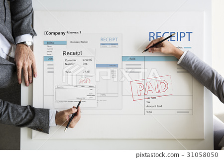 Receipt Bill Financial Transaction Payment Accounting 31058050