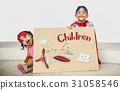 airplane, children, connect 31058546