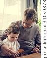 Ukulele Music Instrument Grandfather Grandson 31059878