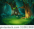 Vector illustration of a forest glade 31061968