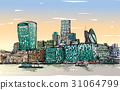 Sketch city scape in London England  31064799