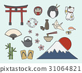 Set of Japanese symbols 31064821