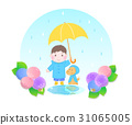 Illustration material of the rainy season 31065005
