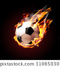 Soccer ball on fire 31065030