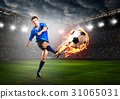 player is kicking ball 31065031