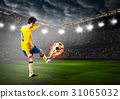 soccer or football player 31065032