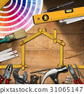 Home Improvement Concept - Work Tools and House 31065147