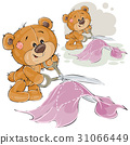 Vector illustration of a brown teddy bear tailor 31066449