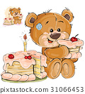 Vector illustration of a brown teddy bear sweet 31066453