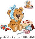 bear, teddy, vector 31066460