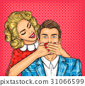 Woman close mouth to the her man 31066599