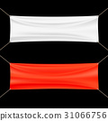 Red and white banner. 31066756