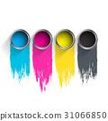 用于印刷的四分色 印刷 绘画 31066850