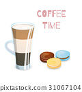 Coffee drink and macaroons 31067104