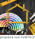 Home Improvement Concept - Work Tools and House 31067415