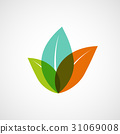 Logo plants with colorful leaves. 31069008