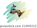 guy, illustration, jump 31069332