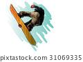 guy, illustration, jump 31069335