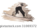 guy, illustration, jump 31069372