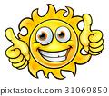Sun Cartoon Mascot 31069850