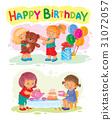 vector, happy, birthday 31072057