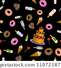 Sweet Food Seamless Pattern 31072387