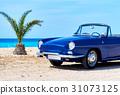 Retro cabriolet car  31073125