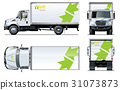 vector, truck, template 31073873
