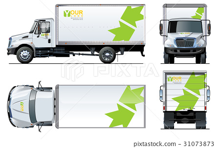 Vector truck template isolated on white 31073873