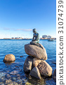 Little mermaid statue Copenhagen 31074739
