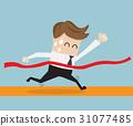businessman in finish line, business success 31077485