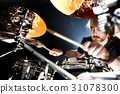 Live music and drummer.Music instrument 31078300