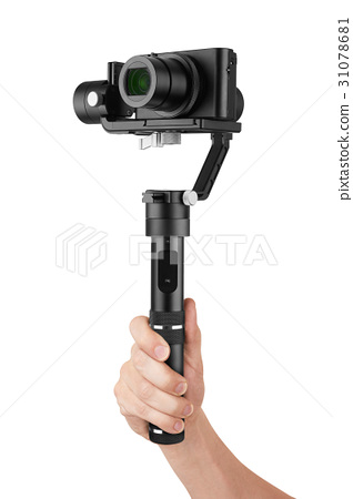 Digital camera with gimbal in hand 31078681