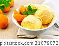 ice-cream, apricot, food 31079072