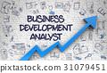 Business Development Analyst Drawn on White Brick 31079451
