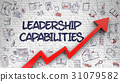 Leadership Capabilities Drawn on White Brickwall.  31079582