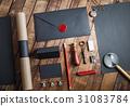 blank stationery black 31083784