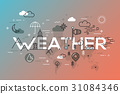 Weather Concept with vector icons and elements. 31084346