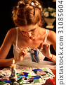 Sad bride on unhappy wedding. Portrait girl 31085604