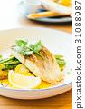 Barramundi or pangasius fish and meat steak 31088987