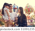 Family Holiday Vacation Amusement Park Togetherness 31091235