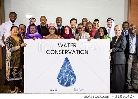 Water Recycling Conservation Droplet Concept 31091427