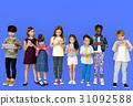 children playing technology 31092588