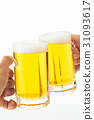 A toast with beer 31093617