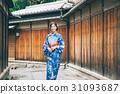 ผู้หญิงในชุดยูกาตะเที่ยวชมสถานที่ในเกียวโต 31093687