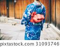 ด้านหลังของผู้หญิงในชุดยูกาตะ 31093746